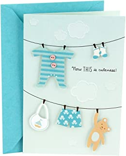 Hallmark Baby Shower Card (Blue, Now This is Cuteness), Clothesline - 0699RZB1131