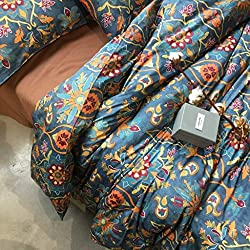 Amazon Eikei Home Damask Medallion Luxury Duvet Quilt Cover Boho Paisley Print Bedding Set 400 Thread Count Egyptian Cotton Sateen Vibrant Bohemian Pattern (Queen, Spanish Tile) Rust Red Orange Blue Turquoise Plum