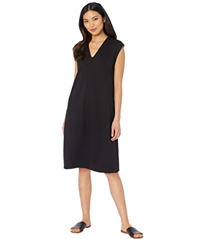 Eileen Fisher V-Neck Dress (Black) Women