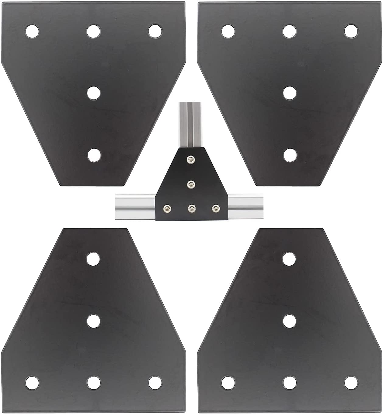 low-pricing Limited time cheap sale 4 PCS Joint Plate TTZEZE Surface Anodic T Oxidation Shape Black