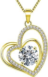 VAN RORSI&MO Heart Necklaces 5A Cubic Zirconia Heart...