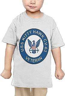 US Navy USS Kitty Hawk CV-63 Ship Veteran Baby Girl Short Sleeve Crewneck Cotton T-Shirts
