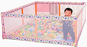 WJSW Baby Bed Rails Bedding Cot Safety Fence Braided Pink Baby Playpens Playard Toddler Safety Fence 180 190 60cm