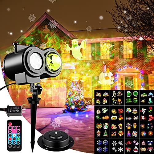 Fiesta Luces de Proyector LED, Navidad Proyector De Luz, Control remoto Decoracion...