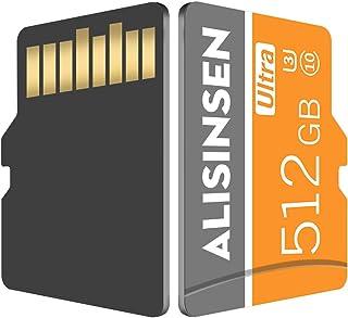 بطاقة ذاكرة صغيرة بسعة 512 جيجا بايت فئة 10 مع محول لجهاز نينتيندو سويتش، كاميرات التحكم، كاميرا الأمان، كاميرات المراقبة،...