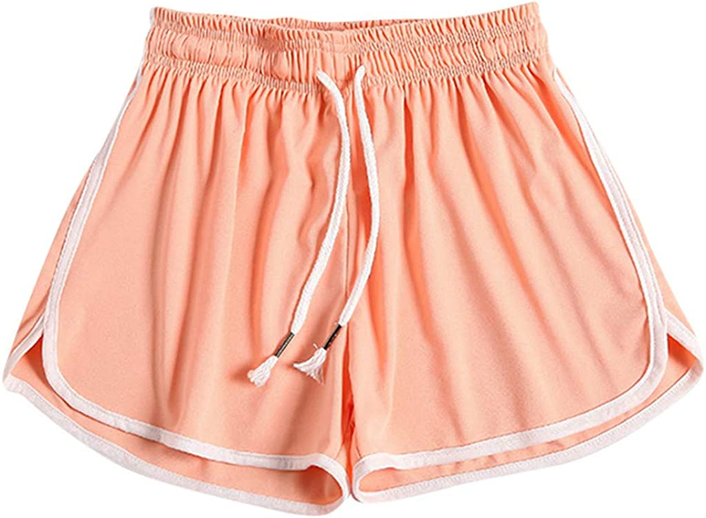 Uppada Shorts for Women Solid Color High Waist Drawstring Workout Beach Yoga Casual Loose Comfy Lounge Pants Active Plus Size