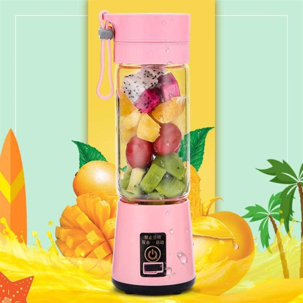 B/H Draagbare mixer smoothie maker, kleine sapcentrifuge beker voor huishoudelijke vruchtensappers - paars zesbladglas Purple Four-Blad Plastic