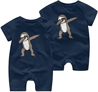 Ives Jean Baby ärmellose Bodysuits Faultier Tupfen Baby Girl Kurzarm Strampler Jumpsuit Kleinkind Jumpsuit 0-24 Monate