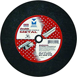 Mercer Industries 600040 Stationary Saw Cut-Off Wheels for Metal, 10