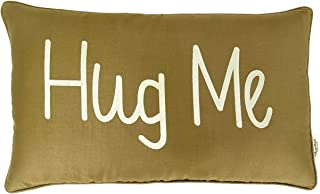 Vargottam EmbroideredHug meLumbar Decorative Throw Pillow Cover Lumbar Pillow Cover Farmhouse 12x20 Inches