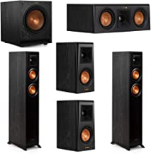 Klipsch 5.1 System with 2 RP-4000F Floorstanding Speakers, 1 Klipsch RP-400C Center Speaker, 2 Klipsch RP-400M Surround Speakers, 1 Klipsch SPL-100 Subwoofer