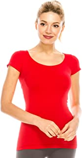 Kurve Scoop Neck Cap Sleeve Seamless Top, UV Protective Fabric UPF 50+ (Made with Love in The USA)