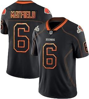 Baker Mayfield #6 Rugby-Trikot, Mayfield Unisex bestickte Fußballfans Jersey Ärmelloses T-Shirt Sportswear