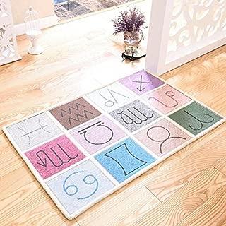 WEIFAN CAI- Carpet Doormat Entrance Door Mats Home Mattresses The Door Mats Doors Constellation Diagram (Size :80x120cm)