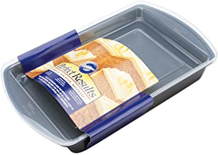 Wilton Perfect Results Premium Non-Stick Bakeware Oblong Cake Pan, Easy Snap On/Off Cover for Maximum Protection, 13 by 9-...