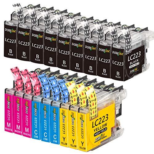 DOREINK Cartucho de tinta compatible para Brother LC223 LC223XL LC223 XL LC-223 para Brother MFC-J5320DW J5620DW J5720DW J5625DW J4620DW DCP-J880DW J4120DW J680DW J4420DW J4625DW J562DW Paquete de 18