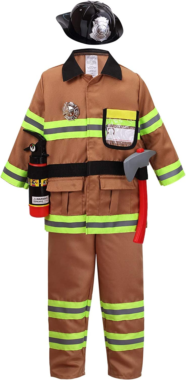 yolsun Tan Fireman Costume for Kids Firefighte and Ranking TOP9 Boys' Girls' Ranking TOP14