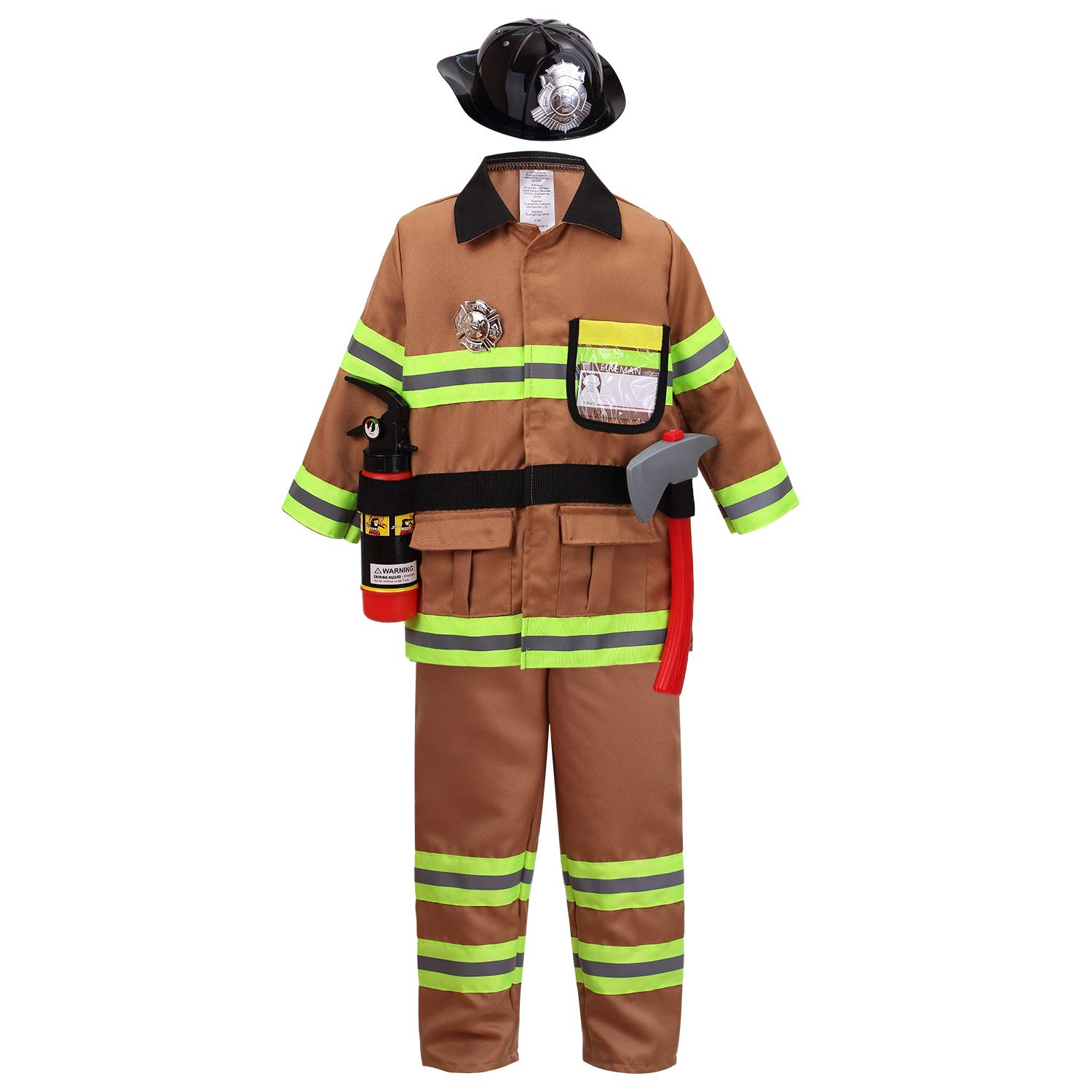 Boys Halloween Costume size 3//4 and 7//8 Teetot Firefighter