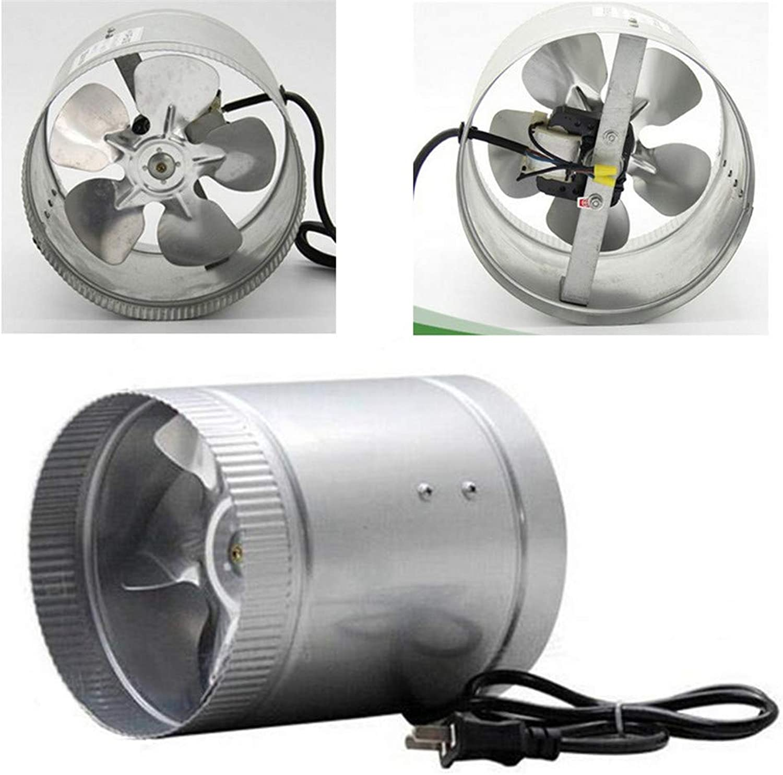 Wuchance 6Inch 37W 220W 60HZ 240CFM Inline-ABlauftventilator Lüftungsventilator Lüftung Hydroponisches Luftgeblse