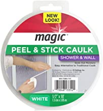 Magic Shower and Wall Peel & Caulk Strip - Create a Tight Seal Between the Bathtub and Wall to Keep Moisture Out - 1/2