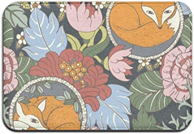 Front Door Mat Non Slip Rug 40x60cm - Swimming Women,3a149 Stylised Floral,One Size