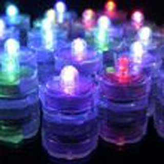TDLTEK Waterproof Submersible Led Lights Tea Lights for Wedding, Party, Decoration (36 Pieces RGB Changing Colors)