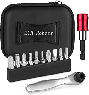 XCH Robots Bike Tools Torque Wrench, 10 Bicycle Allen Key Set & 2-12 Nm Small Ratchet Kit, Lightweight, Suitable for Indoo...