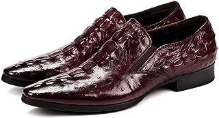 Enjoy4Beauty - Piel de cocodrilo textura de los hombres de negocios zapatos de vestir de los hombres Inglaterra señaló pie...