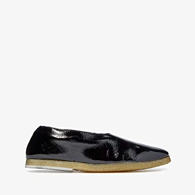 Marsell Shearling Lined Ballerina (Black Patent/Natural) Women