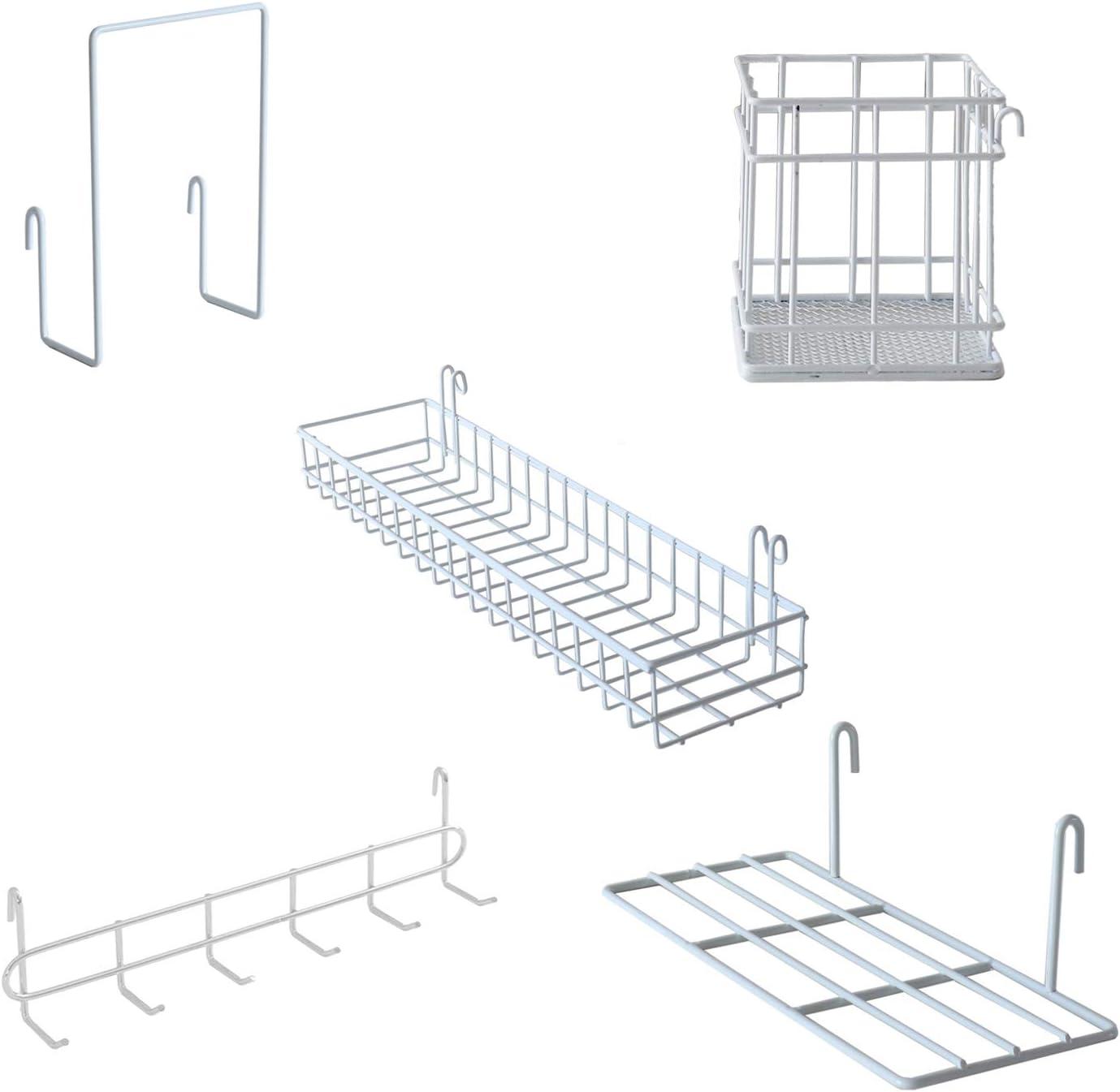 JOVONE Wall Grid Panel Basket Display Hooks Max 87% OFF Holder Pen Weekly update Shelf Rac