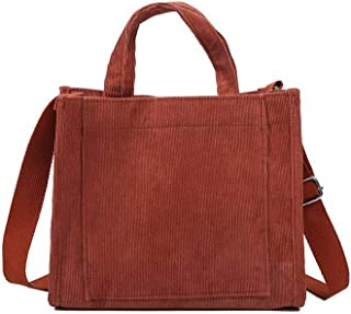 Ulisty Mujer Pana Moda Bolsa de Cubo Casual Bolsa de Hombro Bolso Bolso Crossbody marrón