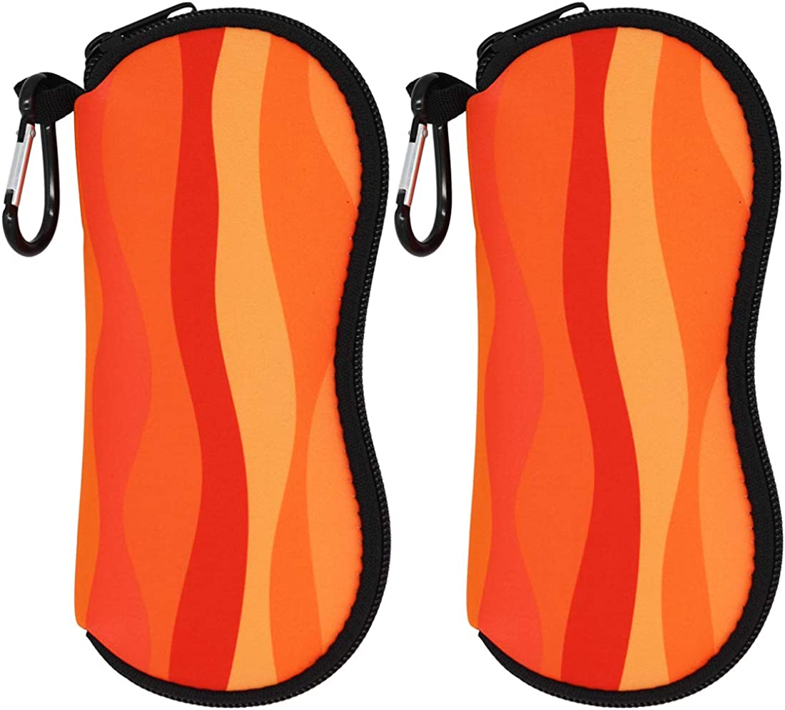 Gowraps 2 Pack Neoprene Sunglasses Case For women Men Soft Glasses Protector/Pouch/Sleeve With Detachable Belt Clips