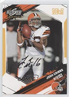 Josh Cribbs #38/50 (Football Card) 2009 Score Inscriptions - [Base] - Gold Zone Autographs [Autographed] #70