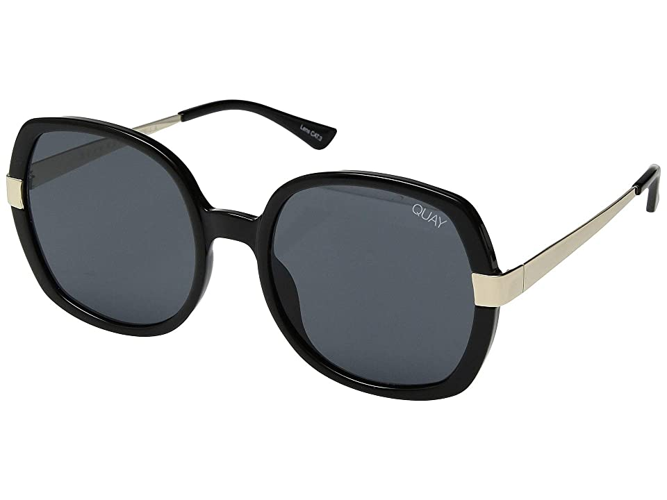 QUAY AUSTRALIA Gold Dust (Black/Smoke) Fashion Sunglasses