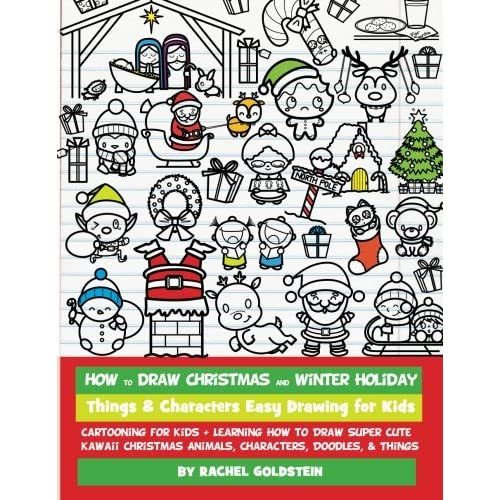 Christmas Things To Draw.How To Draw Christmas And Winter Holiday Things Characters