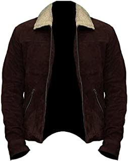 The Rick Grimes Brown Suede Real Leather Jacket