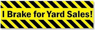 CafePress - I Brake for Yard Sales Car Magnet 10 x 3 - Car Magnet 10 x 3, Magnetic Bumper Sticker