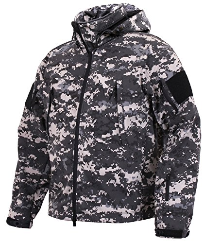 Rothco Special Ops Tactical Soft Shell Jacket,Subdued Urban Digital Camo,Large