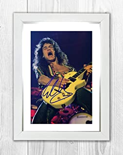 Good With Wood Yorkshire Eddie Van Halen 1 Reproduction Autograph photogragh Picture Poster A4 Print (Silver Frame)