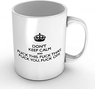 CTIGERS White Coffee Mugs Not A Single Fuck Shall Be Given Today Originality Gifts 11Oz