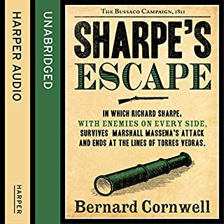 Sharpe's Escape: The Bussaco Campaign, 1810     The Sharpe Series, Book 10              Auteur(s):                                                                                                                                 Bernard Cornwell                               Narrateur(s):                                                                                                                                 Rupert Farley                      Durée: 14 h et 42 min     13 évaluations     Au global 4,8