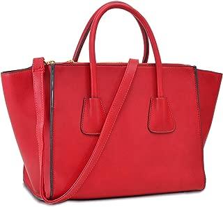 Women's Winged Tote Handbag Fashion Shoulder Bag Structured Satchel Purses