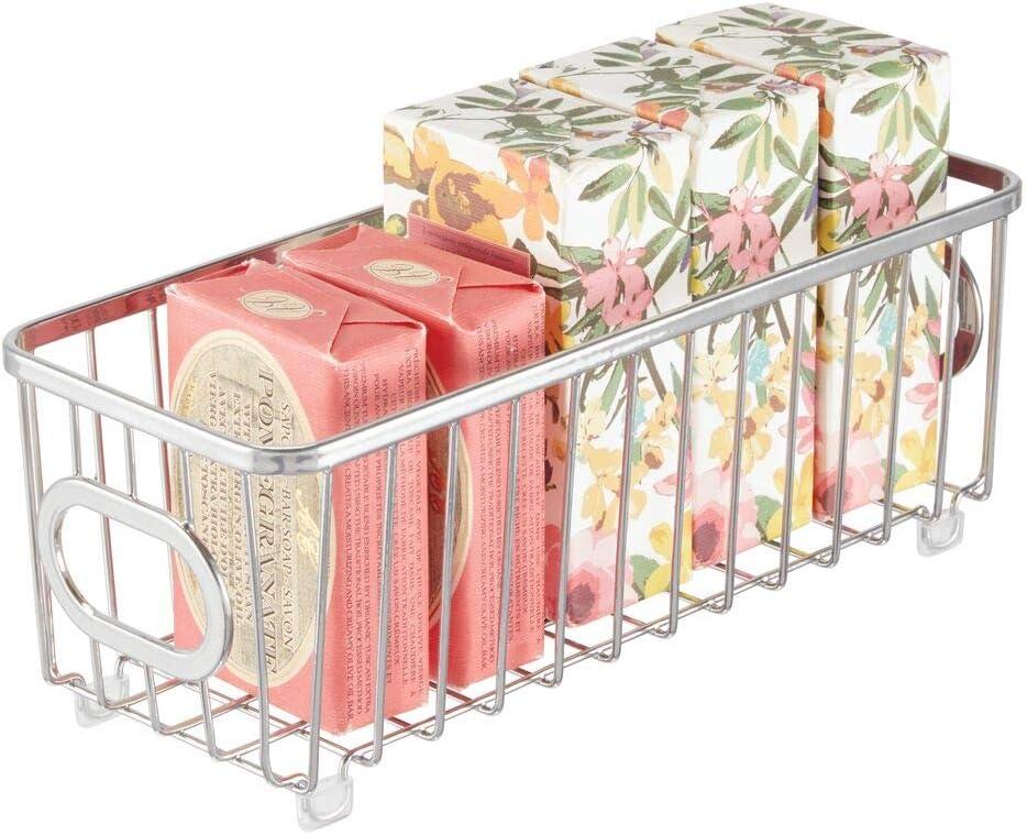 Special sale item mDesign Metal Bathroom Storage Choice Organizer Basket Modern - Bin Wir