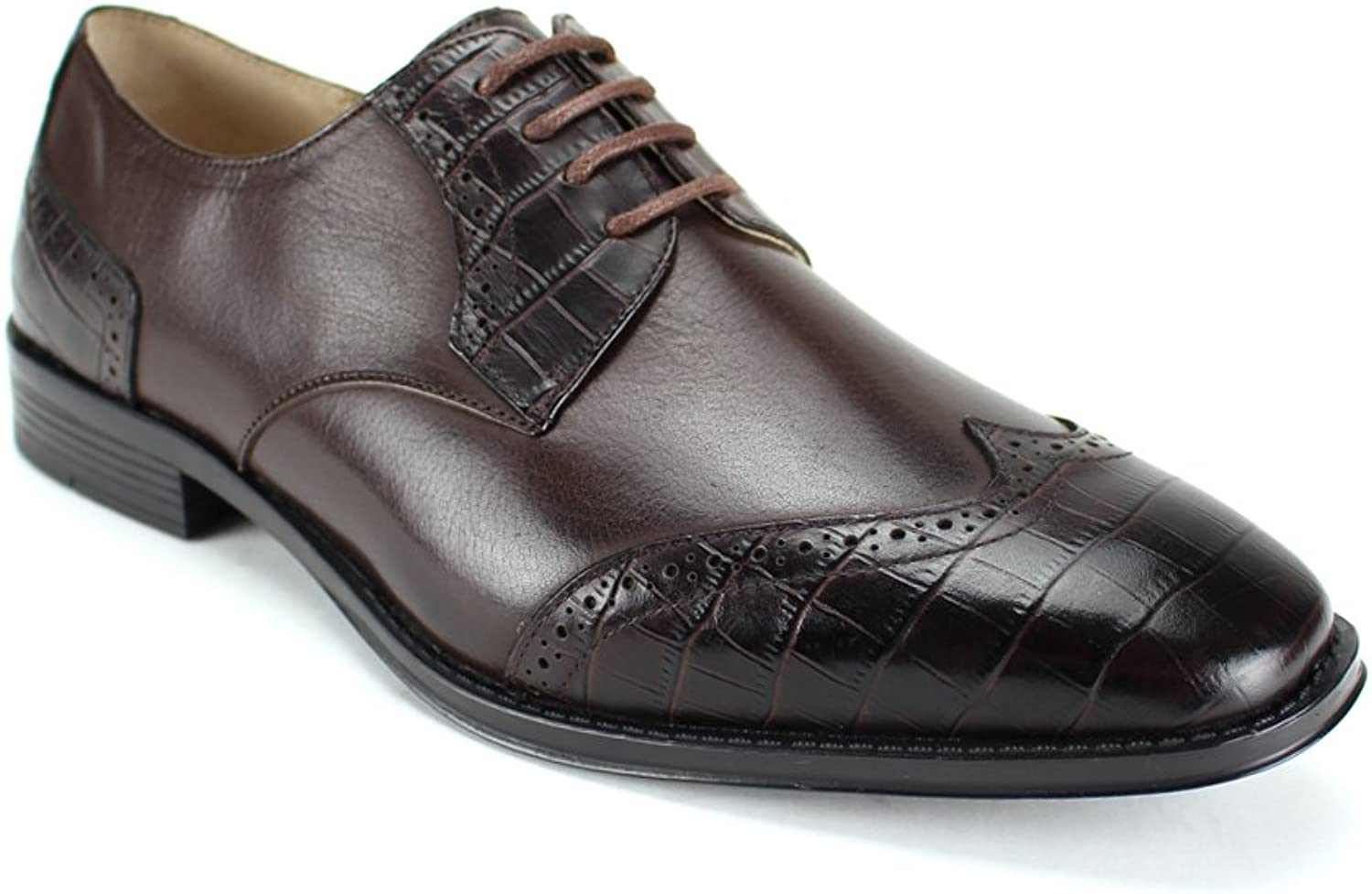 Giorgio Venturi 2533W Mens Leather Dress shoes Wide Width E Width  Smooth and Embossed