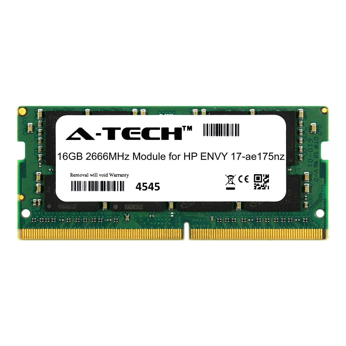 A-Tech 16GB Module for HP Envy 17-ae175nz Laptop & Notebook Compatible DDR4 2666Mhz Memory Ram (ATMS273965A25832X1) khf74887102