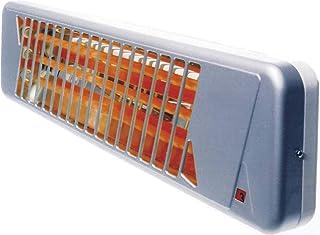Heller QS 120 - Calefactor (Quartz electric space heater, Cristal de cuarzo, Interior, Pared, Gris, 1200 W)