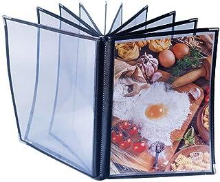 QSJY File Cabinets Livre de Recettes for Les hôtels A4 Menu PVC avec Feuille de Boucle avec carnet de Commandes Liste de P...