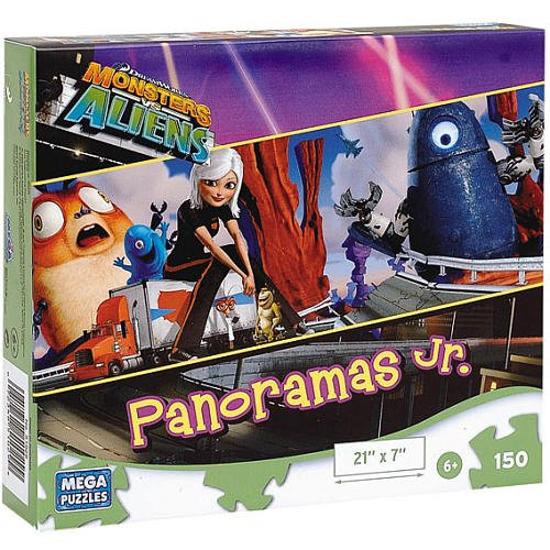Monsters vs Aliens by DreamWorks: Panoramas Jr. 150 Piece Jigsaw Puzzle