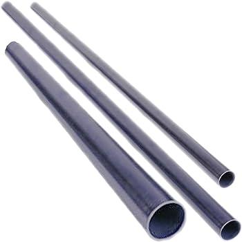 Stahlrohr Rundrohr Schwarz Geschwei/ßt L/änge 1250mm 12,0x2,0mm