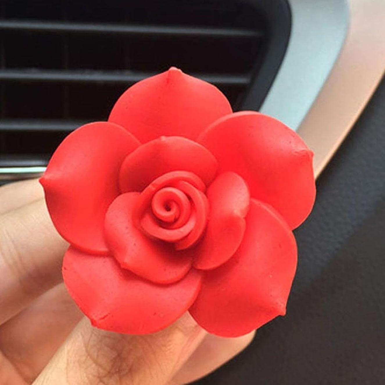 現実住所合図gessppo車ソフトSOTTERY Flower AirコンセントFragrant PerfumeクリップFreshener Diffuser